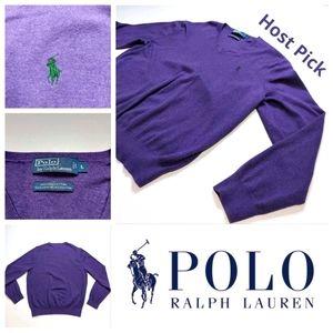 2/55 Polo Ralph Lauren V-neck Blue LBL Pima Cotton